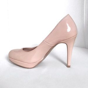 Patent Faux Leather Baby Pink Heels